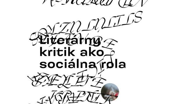 Literárny kritik ako sociálna rola